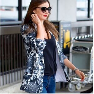 STELLA MCCARTNEY Jacket 36 Frazier Black Floral